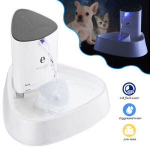 Automatic LED Electric Pet Water Fountain Cat/Dog Drinking Dispenser Filter 1.8L