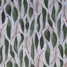 AUSTRALIAN ABORIGINAL QUILTING FABRIC - EUCALYPTUS LEAVES GREEN by FQ and METRE