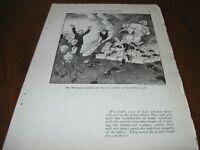 1921 Original POLITICAL CARTOON - NORWEGIAN SOCIALISTS Norway w  BOLSHEVIST GOD