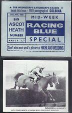 RACING BLUE-HORSE RACING- SOLBINA (CARD+ ORIGINAL ENVELOPE)