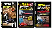 Set (3) Lions The Greatest Drag Strip Dvd Documentary Nhra racing 5+Hours!