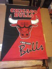 Vintage Large Chicago Bulls 1995 Wall Banner Flag Pennant NBA Jordan 1990's