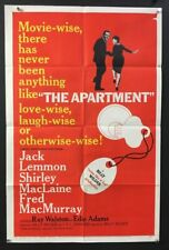 The Apartment Original Movie Poster Jack Lemmon - MacLaine *Hollywood Posters*