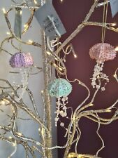 GISELA GRAHAM PASTEL/GOLD RESIN/BEAD JELLY FISH CHRISTMAS DECORATION -YOU CHOOSE