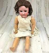 """Antique CM Bergmann Simon Halbig 13 1/2 Head Doll Composition Body 30"""" Sleep Eye"""