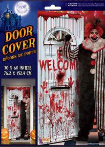 HALLOWEEN party Scene Setter creepy EVIL carnival killer CLOWN wall door poster