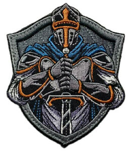 """Knights Templar Tactical Patch [Embroidered -""""Velcro Brand"""" Fastener - KT4]"""