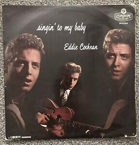 """EDDIE COCHRAN - 1957 - """"SINGIN' TO MY BABY"""" - London (plum) HAU2093 - *EX/VG*"""