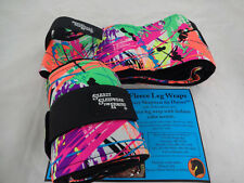 Neon Splash Sleazy Sleepwear Horse Polo Fleece Leg Wraps Velcro Pair Tack New