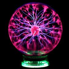 "6"" Glass Magic Plasma Ball Light Large Table Lights Sphere Night Lamp New"
