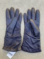 Barneys New York Women's Lamb Leather Cashmere Lining Gloves   7.5   Brand New