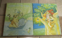 Lot 2 Winnie the Pooh Nursery Childs Wall Art Canvas over frame Tigger Eyore