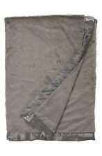 "New GIRAFFE AT HOME Charcoal Luxe Faux Fur Solid Throw Size 45""×59"""