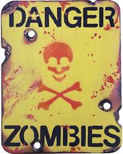 """Danger Zombies Sign: bedroom door office """"teen age son or daughter!"""" gamer"""