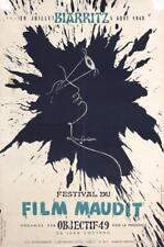 RARE Original Vintage 1940s French Film Maudit Poster COCTEAU Lot 138