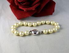 Gorgeous Carolee Faux Pearl Lux Sterling   Bracelet    CAT RESCUE