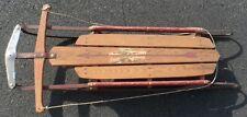 Vintage Wooden Genuine flexible flyer sled, steel frame, collectors item no 47J