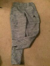 Girls Adidas Grey Joggers size 11-12 years, zipped ankle