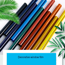 50*60cm Decorative Window Glass Film Transparent Colorful Stained Glass Tint