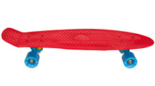 "AscotDrifting Cruiser Skateboard 27"" Red With Blue Wheels"
