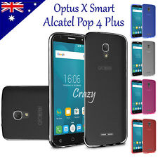 Soft Gel Matte Clear TPU Case Cover For Optus X Smart / Alcatel Pop 4 Plus