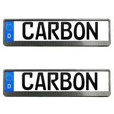 2x Toyota Kennzeichenhalter in Carbon Kennzeichen Nummernschild Halter EU NEU