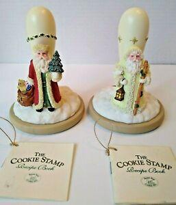 Brown Bag Cookie Art  Snow Santa #2 Father Christmas #3  Stamp Cookie Presses