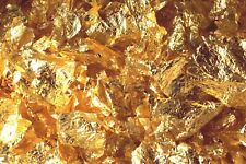100 GRAMS GOLD LEAF FLAKES 100% SATISFACTION OR MONEY BACK FREE SHIPPING