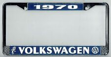 1970 Volkswagen VW Bubblehead Vintage California License Plate Frame BUG BUS T-3