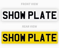 Pair White Yellow Show Custom Number Plates NOT Road or MOT Legal Compliant Car