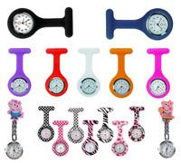 Nurse Watch Patterned Silicone Nurse Brooch Tunic Fob Watch + 1 FREE BATTERY