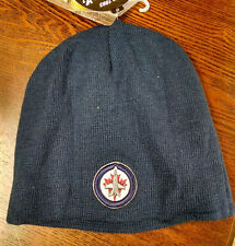 Winnipeg Jets NHL Knit Beanie Stocking Cap - Blue