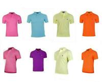 Ralph Lauren Polo Shirt Short Sleeve Men's Top Black Pink Blue Orange New Sale !