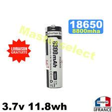 Pile batterie lipo li-ion 8800mAh 3.7v 18650 batterie rechargeable pour torche