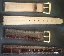 Genuine Seiko Leather Brown band 17mm with signed buckle 16mm Excellent ! L@@K !