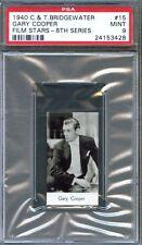 1940 C. T. BRIDGEWATER Film Card #15 GARY COOPER Sergeant York Actor PSA 9 MINT