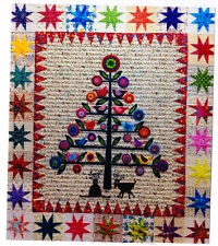 Oh Christmas Tree - wool applique & pieced quilt PATTERN - Flying Fish