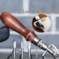 Nähwerkzeug Lederhandwerk Nähen Punch Groover Set Lederhobel Kit Werkzeug N1T8