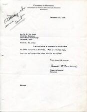 Frank McCormick Signed Letter 1920 Akron Pros Football Champions Mem JSA/PSA Gua