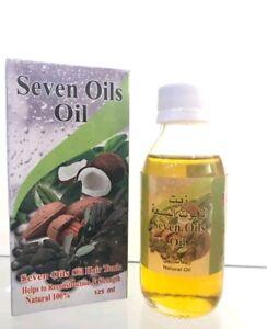 *Organic* Seven Oils Oil125ml Natural Oil For Hair & Body Treatment 100% Genuine