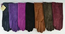 Dents Ladies Emily Suede Gloves. Black,Navy,Red,Cognac,Mocca,Claret,Pink, 7-2317