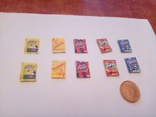 1/12 Scale Assorted Sweet Packs set of 10 for Dollhouse