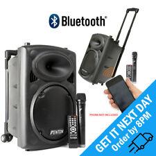 "Fenton FPS10 10"" Battery Powered Bluetooth PA Speaker Wireless & Microphone 150W"