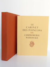Le cabinet des poinçons de l'Imprimerie Nationale. Imprimerie Nationale 1963
