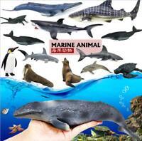 12Pcs Plastic Sea Marine Animal Figures Ocean Creatures Sea Life Crab Kids Toy