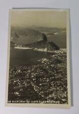 RIO DEO JANEIRO Brazil Postcard CORCOVADO RPPC Real Photo 1920's Leonar Botelho