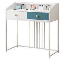 Luxury White Corner Dressing Table 2 Drawer Dresser Modern Make Up Jewellery UK