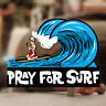 Pray for surf sticker decal hot rod Woody Maui surf Hawaii surfing 4.25""