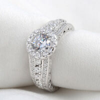 Wedding Engagement Ring For Women 2.7ct Round White Cz 925 Sterling Silver 5-10