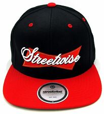 STREETWISE King Of Kings Snapback Cap Hat Adult OSFM Adjustable Black Red New